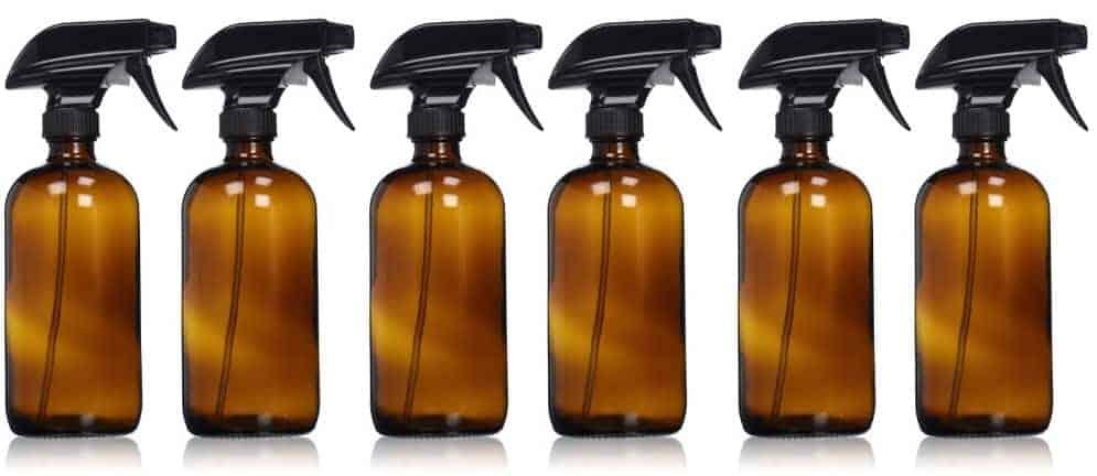 16oz Amber Glass Spray Bottle ~ 6 Pack Image