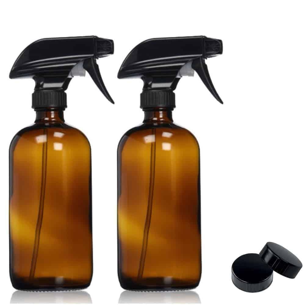 16oz Amber Glass Spray Bottle ~ 2 Pack Image